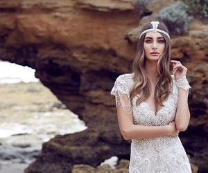 bridal, dress, and wedding image