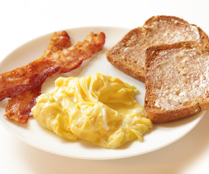 bacon, fitness, and food image
