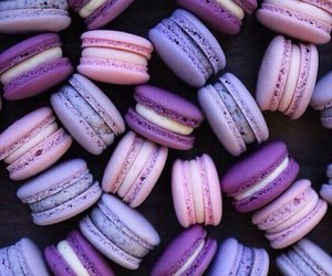 purple, food, and macaroons image