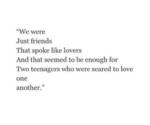 just, lovers, and friends image