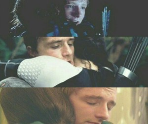 hug, the hunger games, and katniss image