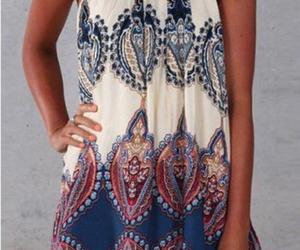 dress, fashion, and print image
