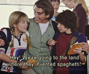 lizzie mcguire, Hilary Duff, and spaghetti image