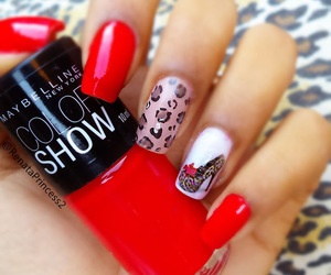 animal print, red, and cute image