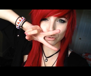 alt girl, emo, and hair image
