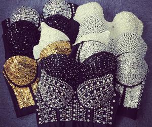 black, crystals, and fashion image