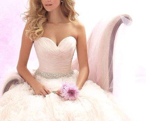bridal, wedding dress, and beautiful image