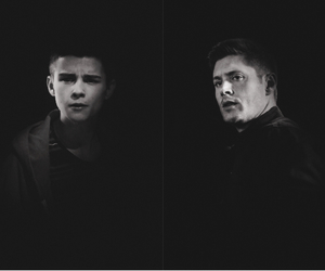 black, dean winchester, and heroes image