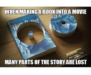 book, film, and harry potter image