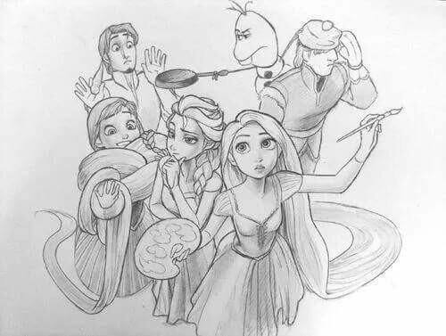 frozen, draw, and rapunzel image