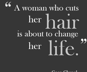 coco chanel, hair, and quote image