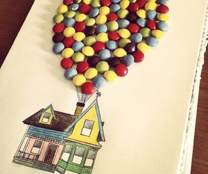 balloon, carl, and colors image