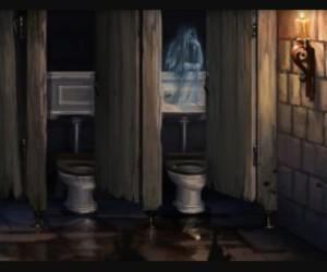 bathroom, school, and harry potter image