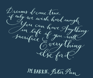 dreams, j.m. barrie, and peter pan image