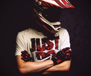 boy, Just Do It, and motorbike image