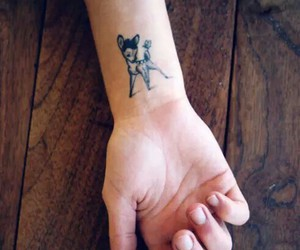 bambi, black, and tattoo image