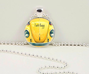vw pendant, punch buggy pendant, and punch buggy necklace image