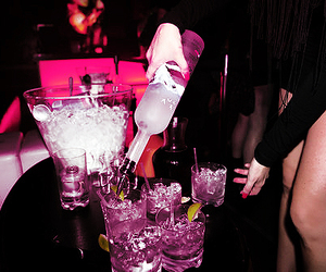 drink, party, and pink image