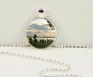 beach necklace, beach pendant, and beach volleyball pendant image