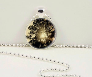 tree necklace, tree pendant, and sunray necklace image