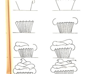 cupcake, art, and draw image
