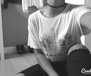 cactus, chocker, and grunge image