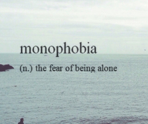 alone and phobia image