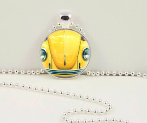 punch buggy pendant, punch buggy necklace, and vw pendant image