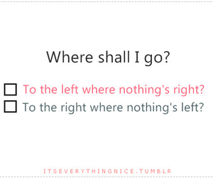 left, Right, and quote image