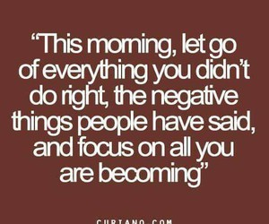 focus, let go, and negative image