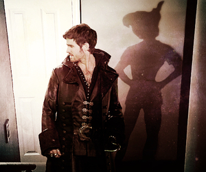 once upon a time, hook, and peter pan image
