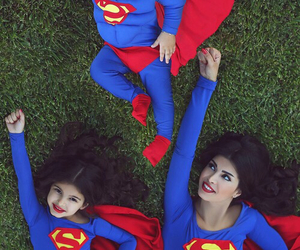 family, superman, and mother image