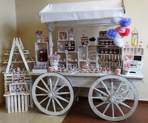 bar, candy, and cupcakes image