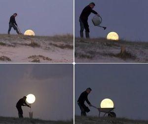 moon and man image
