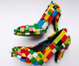 lego, shoes, and heels image
