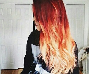 hair, red, and orange image