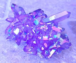 purple, crystal, and diamond image