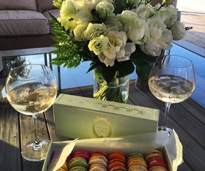 champagne, Cookies, and flowers image