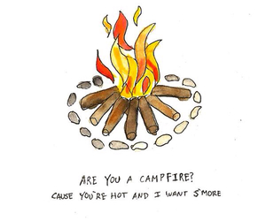 campfire, fire, and funny image