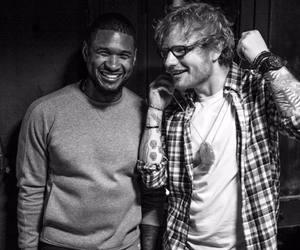 usher and ed sheeran image
