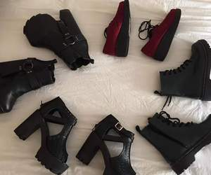 black, boots, and high heels image