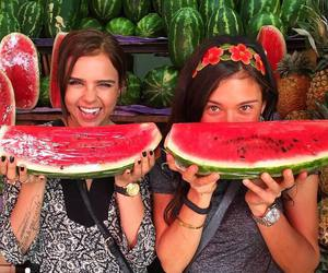 fruit, happy, and watermelon image