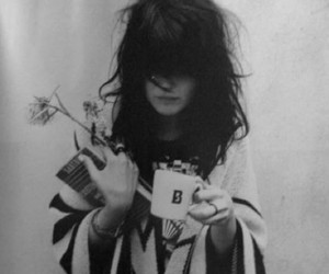 girl, flowers, and alison mosshart image