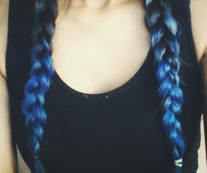 blue, hair, and color image