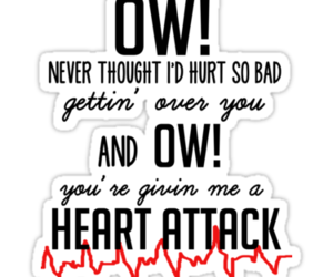 one direction, 1d, and heart attack image