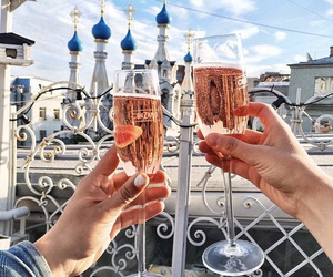 drink, girl, and travel image
