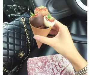 bag, car, and chocolate image