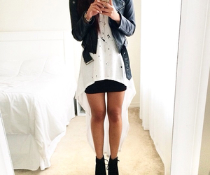 black, boots, and fashion image