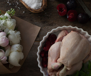 Chicken, food, and roast chicken image