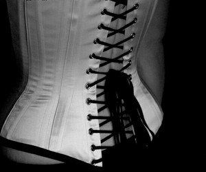 b&w, corset, and goth image